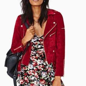 UNIF Sangre Moto Jacket Red Velvet MEDIUM